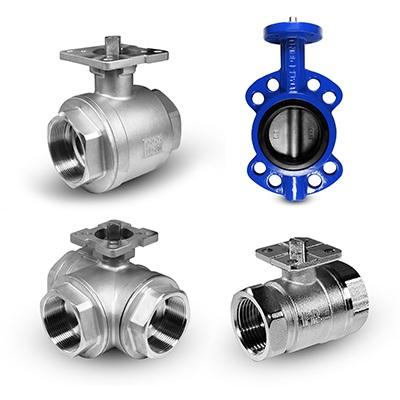 Клапани з монтажною базою для приводів