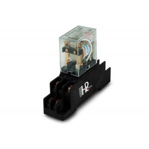 Реле 10A 2x NO / NC з базою для кріплення на DIN-рейці