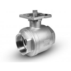 """Кульовий кран з нержавіючої сталі 3/4 """"DN20 монтажна плита ISO 5211"""