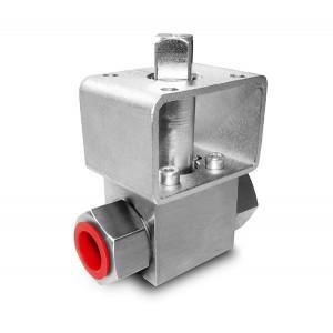 Шарикопідшипник високого тиску 1/2 дюймовий SS304 HB22 монтажна плита ISO 5211