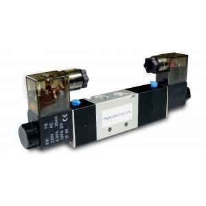 Соленоїдний клапан 4V230C 5/3 1/4 дюйма для пневматичних циліндрів 230В або 12В, 24В