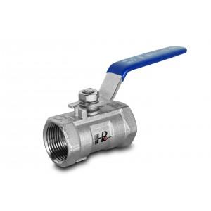 Кульовий кран з нержавіючої сталі 1/2 дюйма DN15 з ручним важелем - 1 шт