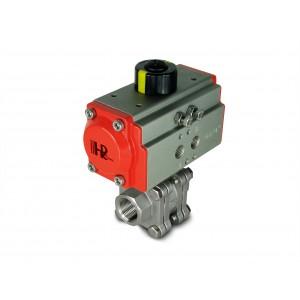 Кульовий кран з нержавіючої сталі 1/2 дюйма DN15 PN125 з пневмоприводом AT40
