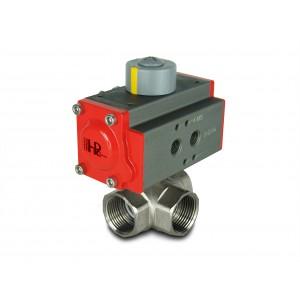 3-провідний кульовий клапан 1 1/4 дюйма DN32 з пневмоприводом AT40