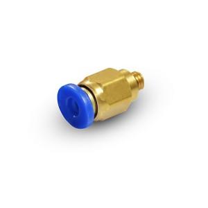 Штепсельний ніпель прямого шлангу з різьбою 6мм M5 PC06-M05