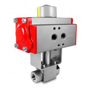 Шарикопідшипник високого тиску 1/2 дюйма SS304 HB22 з пневматичним приводом AT63