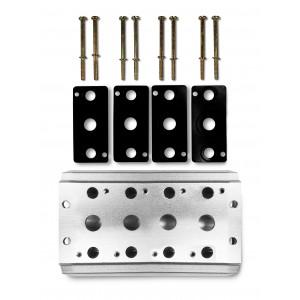 Плата колектора для з'єднання 4 клапанів 1/2 серії 4V4 групового клапанного крана 5/2 5/3