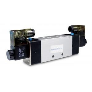 Соленоїдний клапан 4V220 5/2 1/4 дюйма для пневматичних циліндрів 230В або 12В, 24В