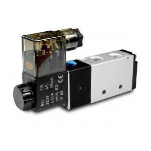 Соленоїдний клапан 5/2 4V410 1/2 дюйма для пневматичних циліндрів 230В або 12В, 24В