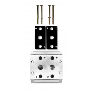 Плата колектора для з'єднання 2 клапанів 1/4 серії 4V2 4A клапанний кранове отвір 5/2 5/3