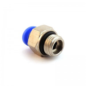 Штепсельний штекер з'єднувальний з прямим 12мм різьбою 3/8 дюйма PC12-G03