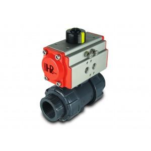 Кульовий клапан UPVC 1 1/2 дюймовий DN40 з пневматичним приводом AT52