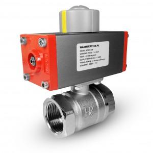 Латунний кульовий кран 1/2 дюйма DN15 з пневматичним приводом AT32