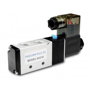 Соленоїдний клапан для пневматичних циліндрів 4V210 5/2 1/4 230V 12V 24V