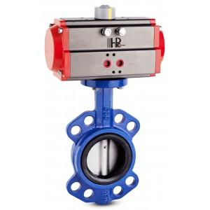Дросельний клапан, дросель DN200 з пневматичним приводом AT140