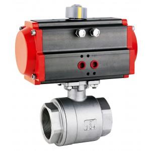 Кульовий кран з нержавіючої сталі 1 1/2 дюйм DN40 з пневматичним приводом AT63