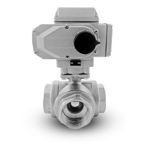 Кульковий клапан з нержавіючої сталі 1 1/2 дюйма DN40 з електричним приводом A500