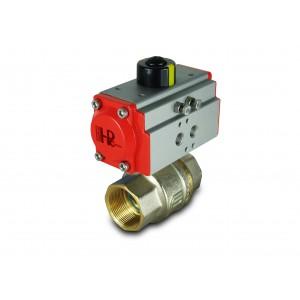 Латунний кульовий кран 1 1/2 дюйм DN40 з пневмоприводом AT52