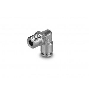 Штекерний ниппель з кутовим шлангом з нержавіючої сталі 8 мм різьблення 1/4 дюйма PLSW08-G02