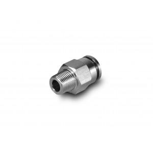 Штекерний ниппель прямий шланг з нержавіючої сталі 6мм різьблення 1/4 дюйма PCSW06-G02
